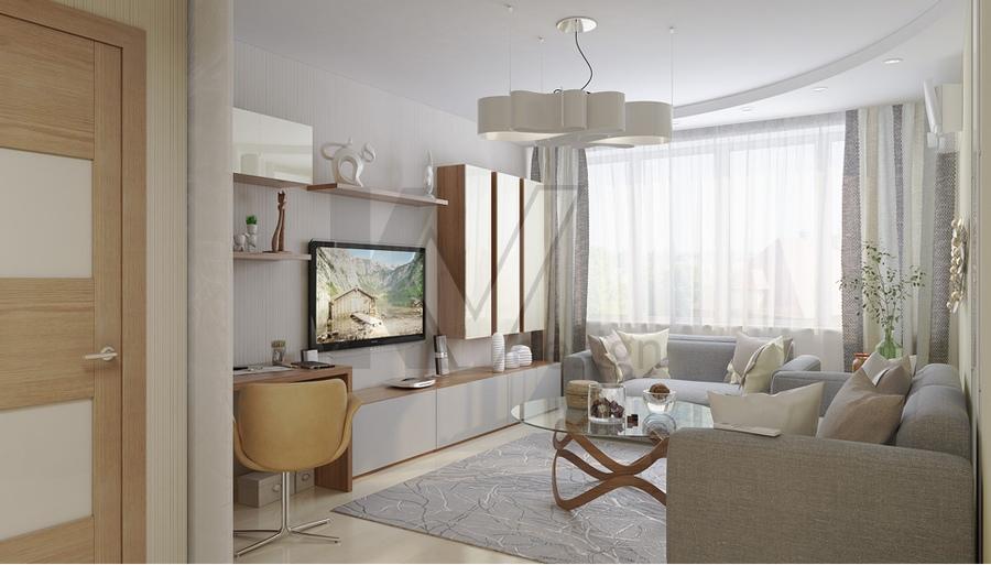 дизайн гостиной 18 метров фото