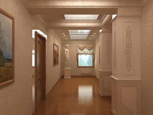 Дизайн совмещенной кухни и коридора