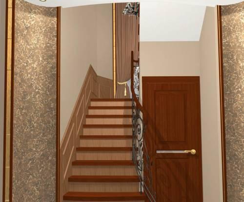 коридор узкий в частном доме фото