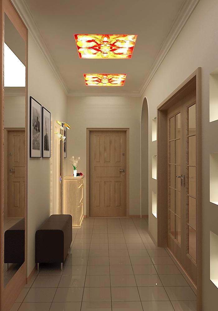 Дизайн потолочных светильников в коридоре