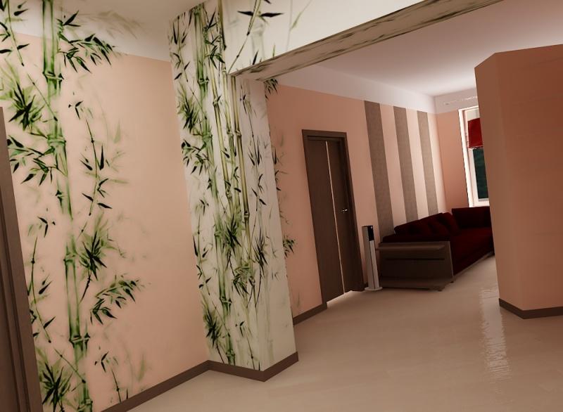 Оформление коридора  с фото